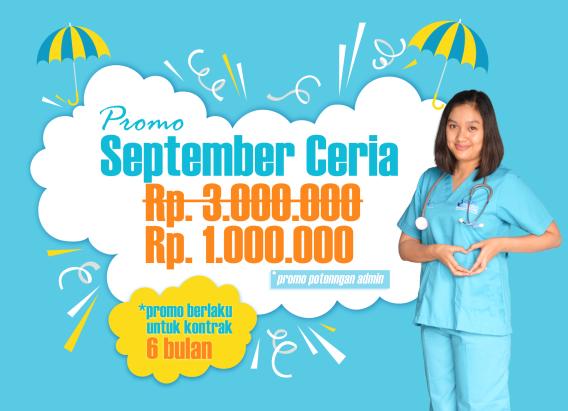 promo september perawat, perawat home care, perawat lansia, perawat medis