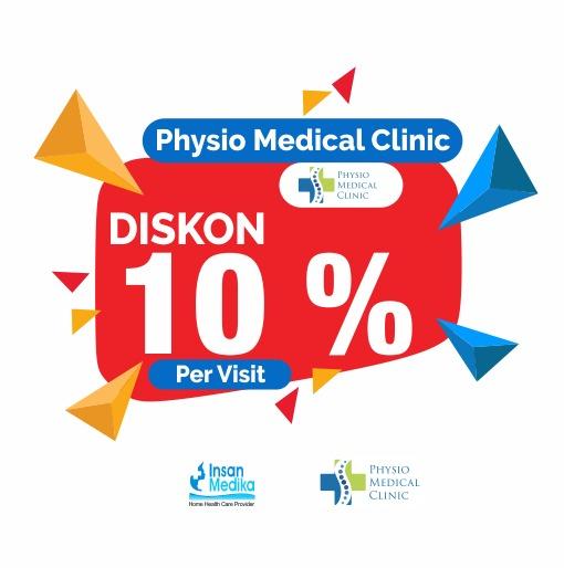 Dapatkan Promo diskon di Physio Medical Clinic sebesar 10 % Per Visit